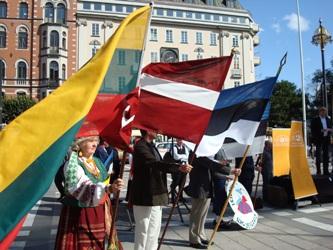 Protester mot estland aven i vitryssland